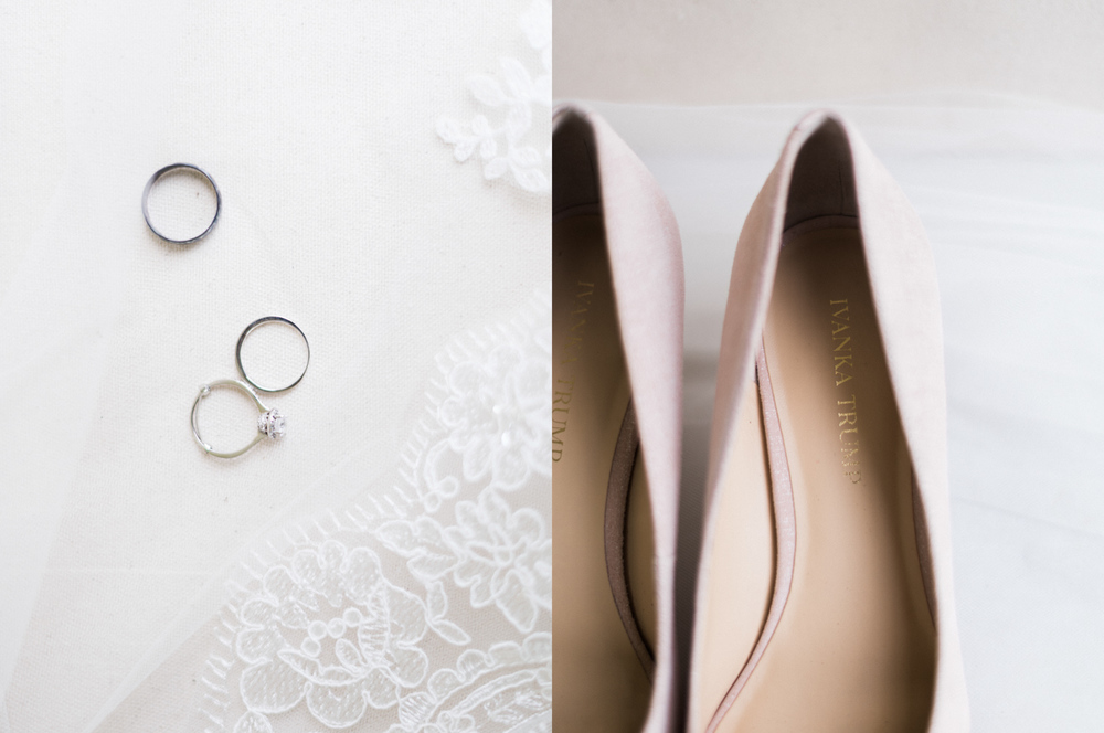 Lynchburg Virginia | Sorella Farms | Charlottesville Virginia | Wedding Photographer | Kelsey & Nate | kelseyandnate.com | Ivanka Trump Blush Wedding Shoes