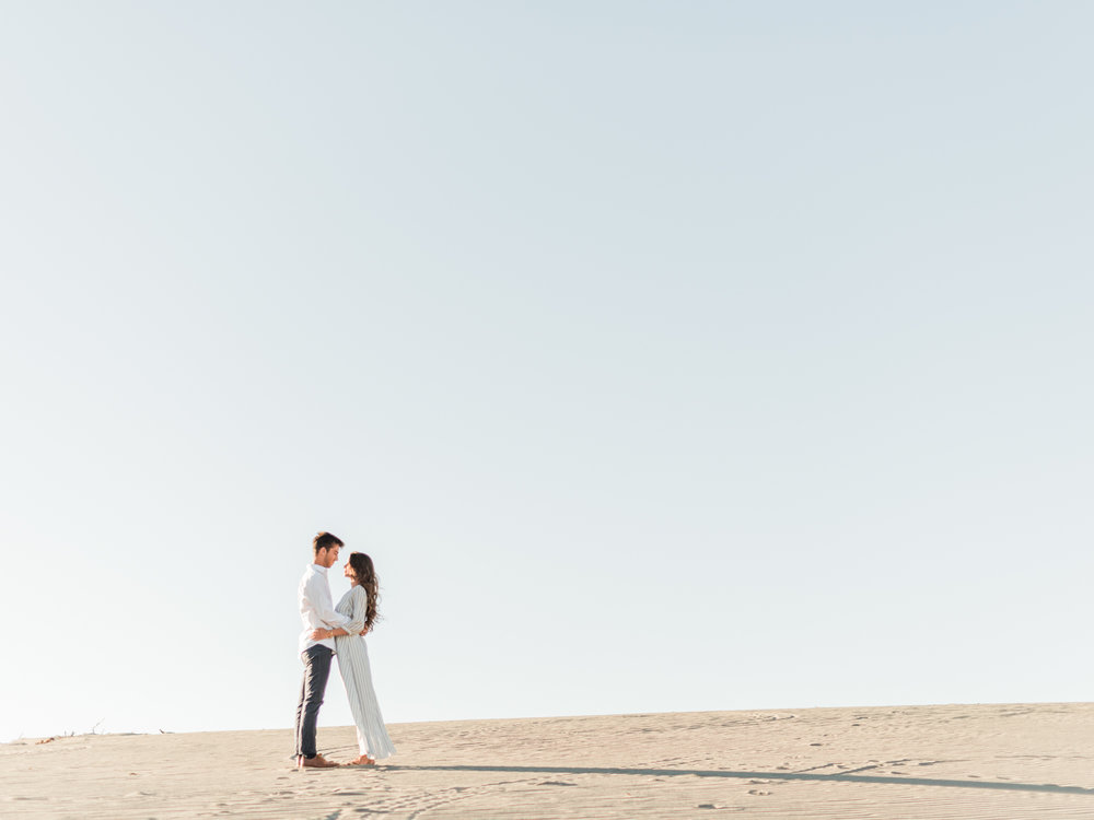Sun-filled Sand Dune Anniversary Session