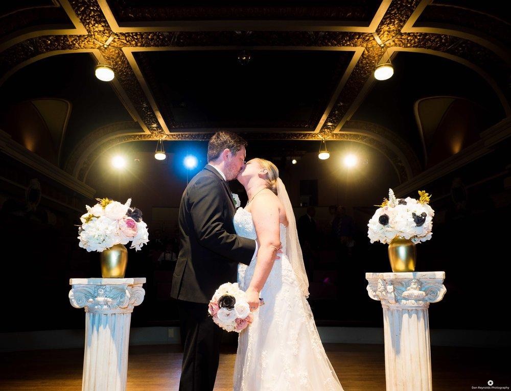 Cox Moore Wedding stage kiss.jpeg