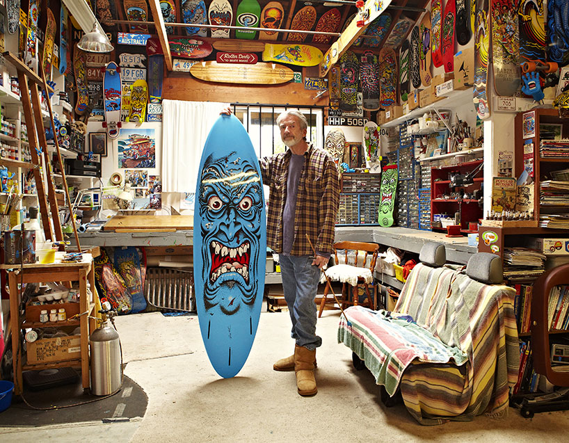 Chances are something this guy has drawn has been on a board, wheel, T-shirt, or hoody that you owned and were stoked on at some point in your life. Its impossible to have grown up skating or surfing and not been influenced by his art. Jim Phillips is a legend (and because of this we will forgive him for wearing Ugg boots). Design Boom just did an interview with him  here that is worth a look.