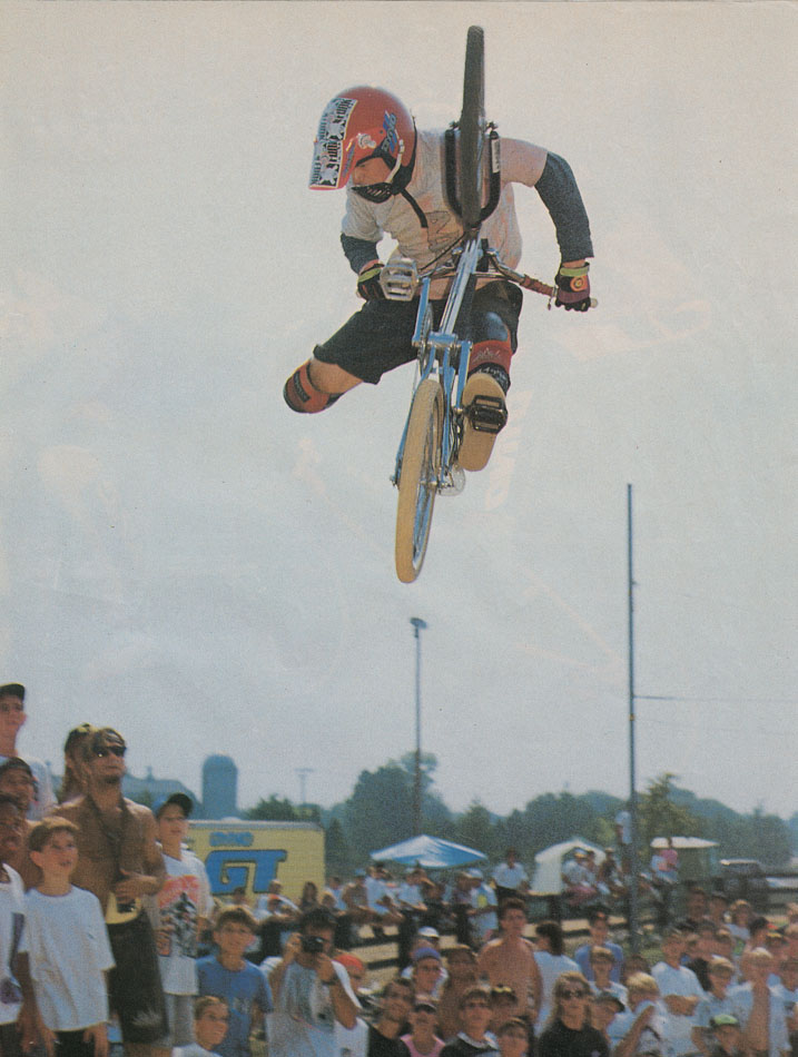 """During that time I put everything into riding. I have no idea what gave me the confidence to, but I entered my first dirt jump contest at 17. It was at the NBL Grands race in Kentucky. Fuzzy [Hall] was in it, he was an idol of mine. He was wearing full race kit. I was wearing torn up shorts, mismatched knee-pads, two different water skiing gloves and I had two odd tyres. I came second in the contest and BMX Plus ran a full page photo of me doing a Grizz. It blew my mind. You'd never see a photo of a kid dressed so ratty in BMX Plus. That contest started things for me, not long after my '5% discount bro' deal with Albes, it turned into a real sponsor.""    George Marshall penned an indepth article on BMX icon Taj Mihelich last year and its just been released online.   We urge you to have a read:    http://thealbion.cc/taj"