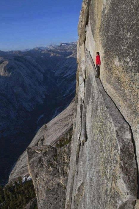The 'Thank God Ledge', Yosemite, CA… Imagine sinking a beer perched on that bad boy.