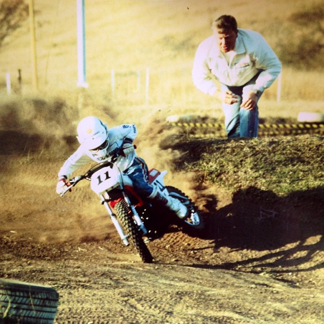 A young Grant Langston WFO on a wee PW80, circa 1990.