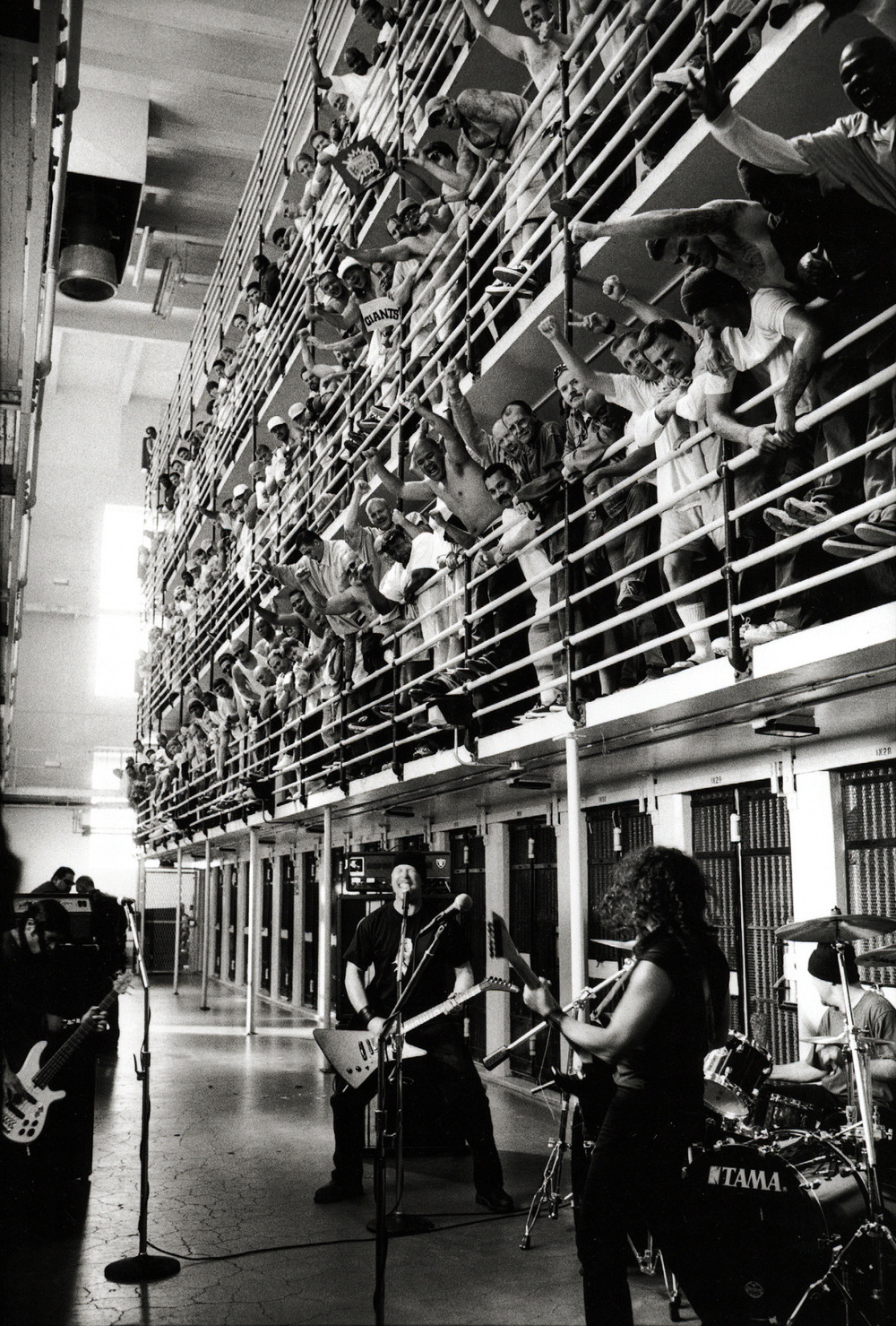 Metallica preforming at San Quentin State Prison (2003).