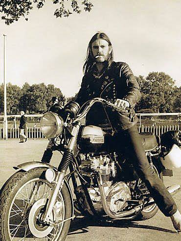 Lemmy on two wheels.. Get well soon!