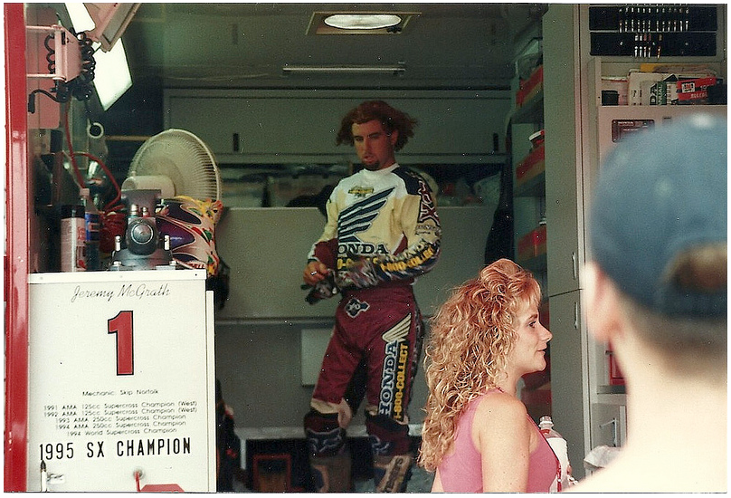 MC rocking the surfer look at Unidilla in 95… Nineties MX needed this guy.