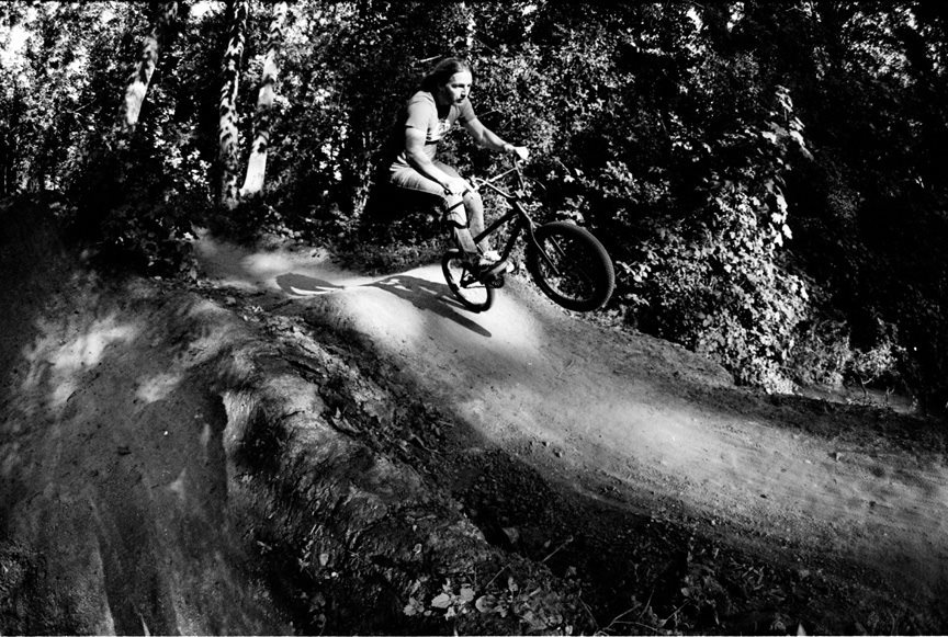 James Brooks caught in the act. Something about this pic just makes you want to ride. Poached from Case BMX Mag.