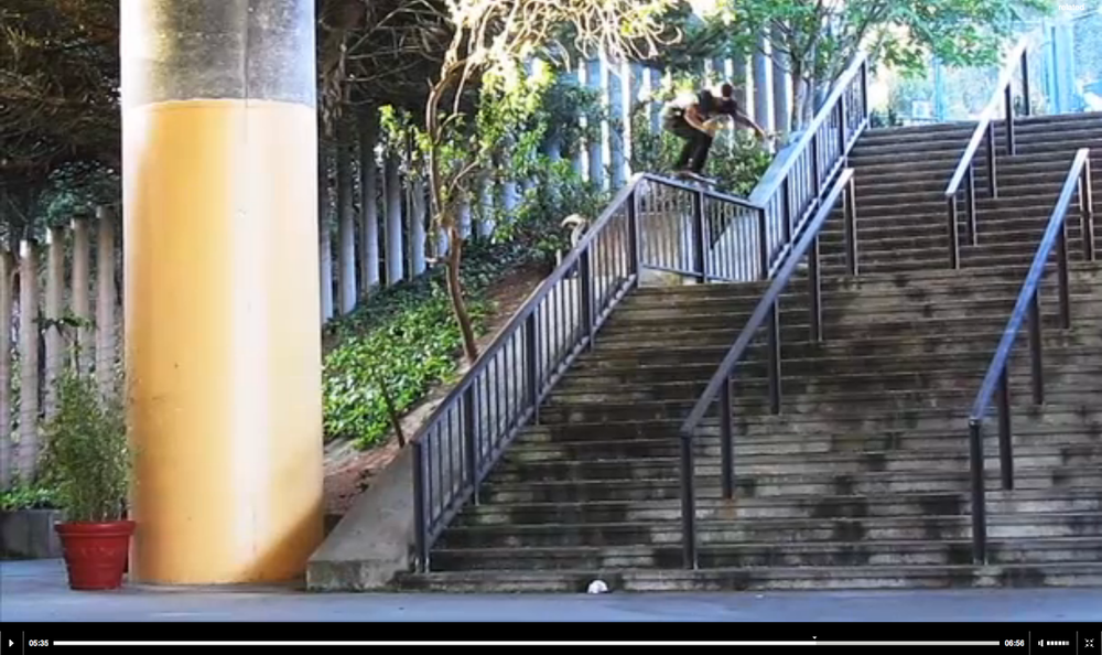 "Holy shit bags! As Thrasher put it,  "" We'll try to keep it simple: David sought out the gnarliest street spots in existence and annihilated them. Mix that in with his timeless transition skills and you have one of the best parts we've ever seen.""    Watch here ."