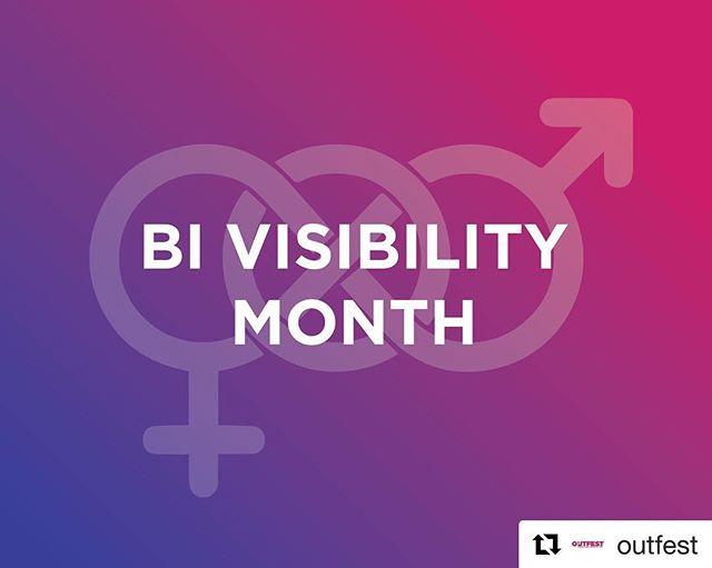 #repost 😺 happy #BiVisibility Month from @Outfest! 🎥️🌈 #BiShowcase #bisexual #bi #bisexuality #bivisibility #bigirls #biboys #bisexualpride #bilove #bisexualmen #bisexualwomen