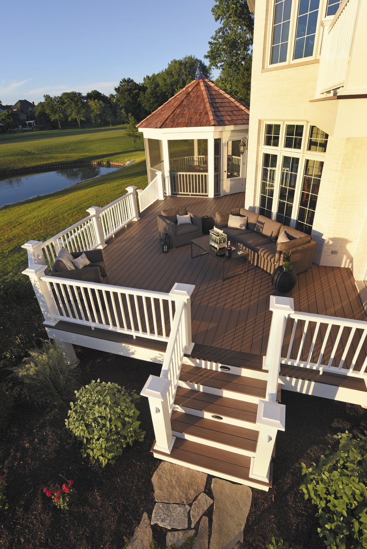 deck gazebo railing outdoor room design custom backyard