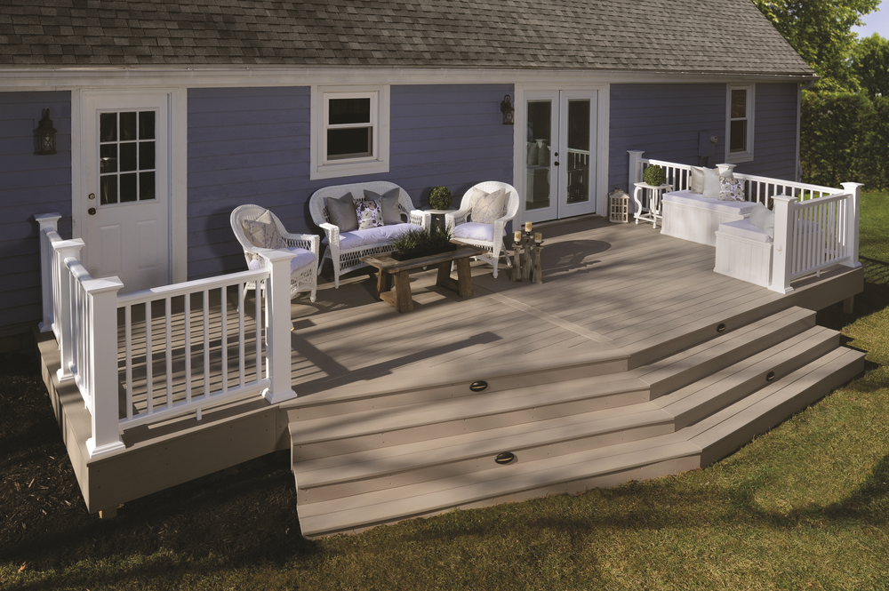 deck railing steps outdoor room design custom backyard