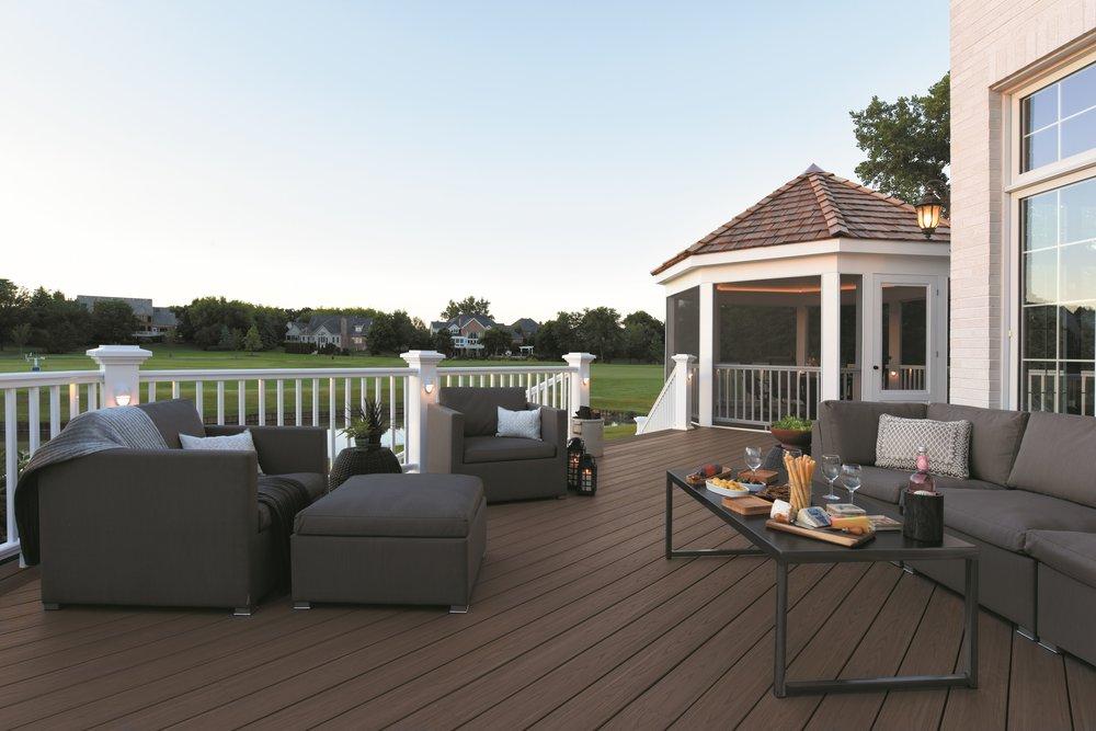 deck composite gazebo outdoor room trex azek timber tech railing