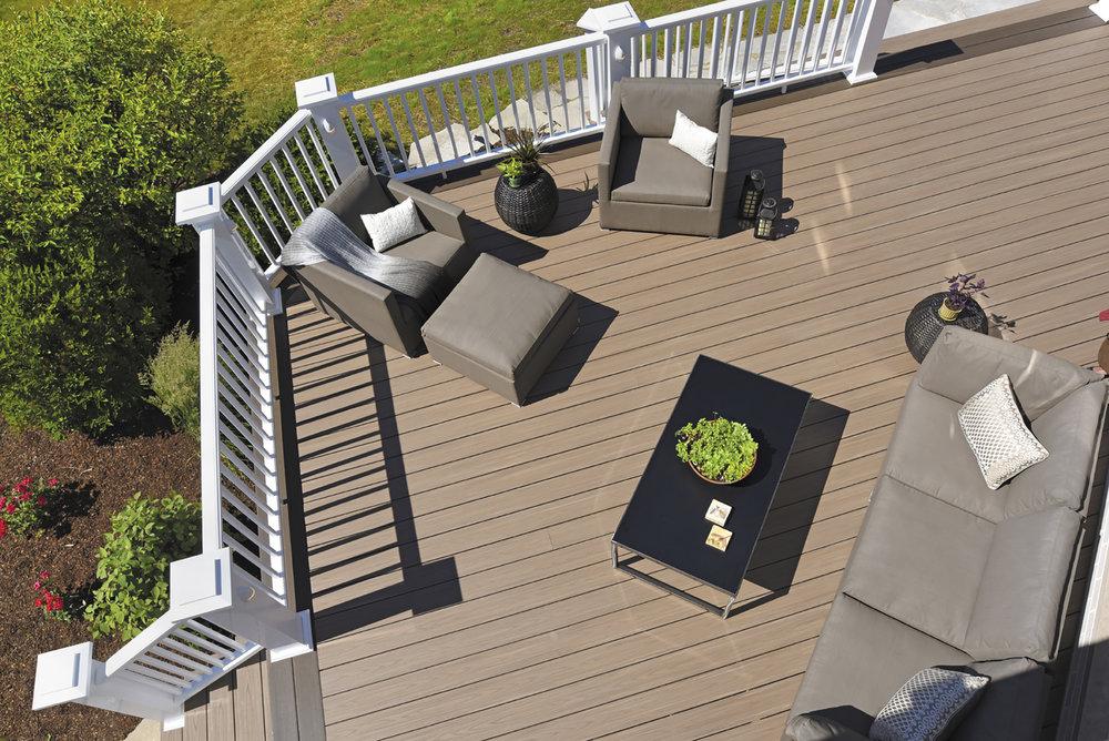 deck designer builder composite railing trex azek timber tech