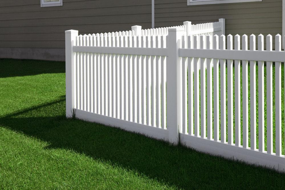 fence white picket dog animal landscape design