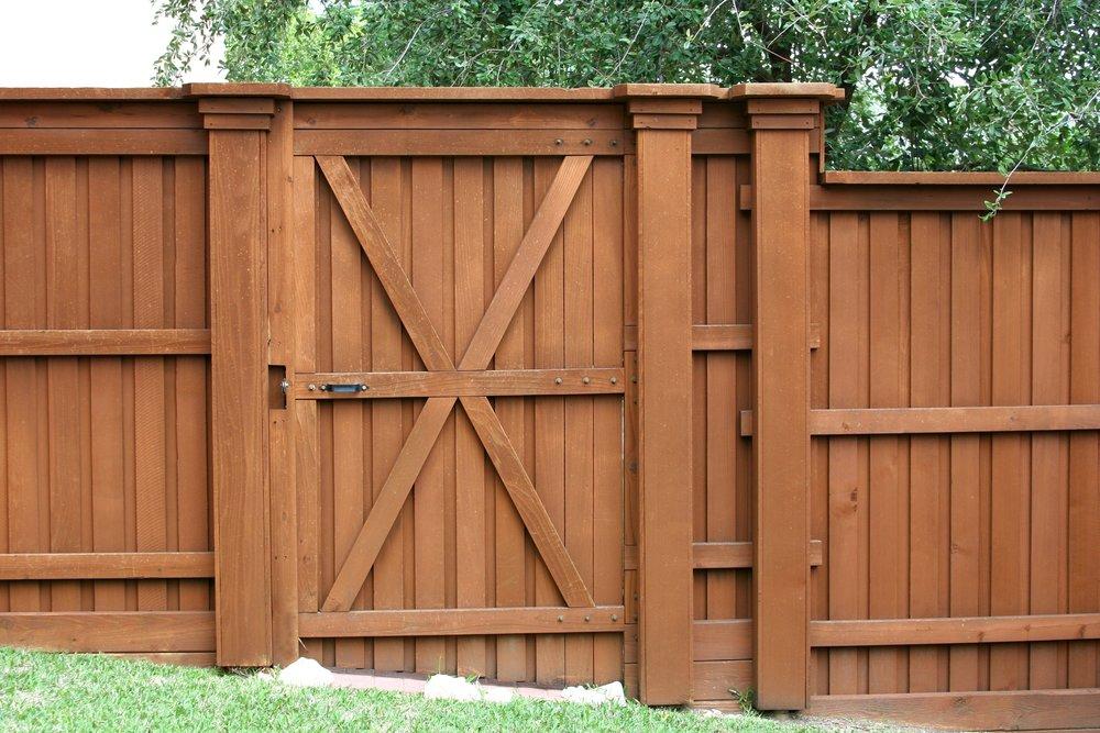 fence wood privacy gate custom design landscape