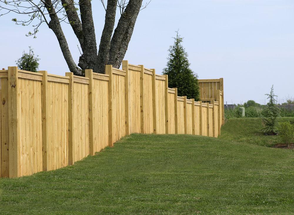 fence wood privacy landscape design custom