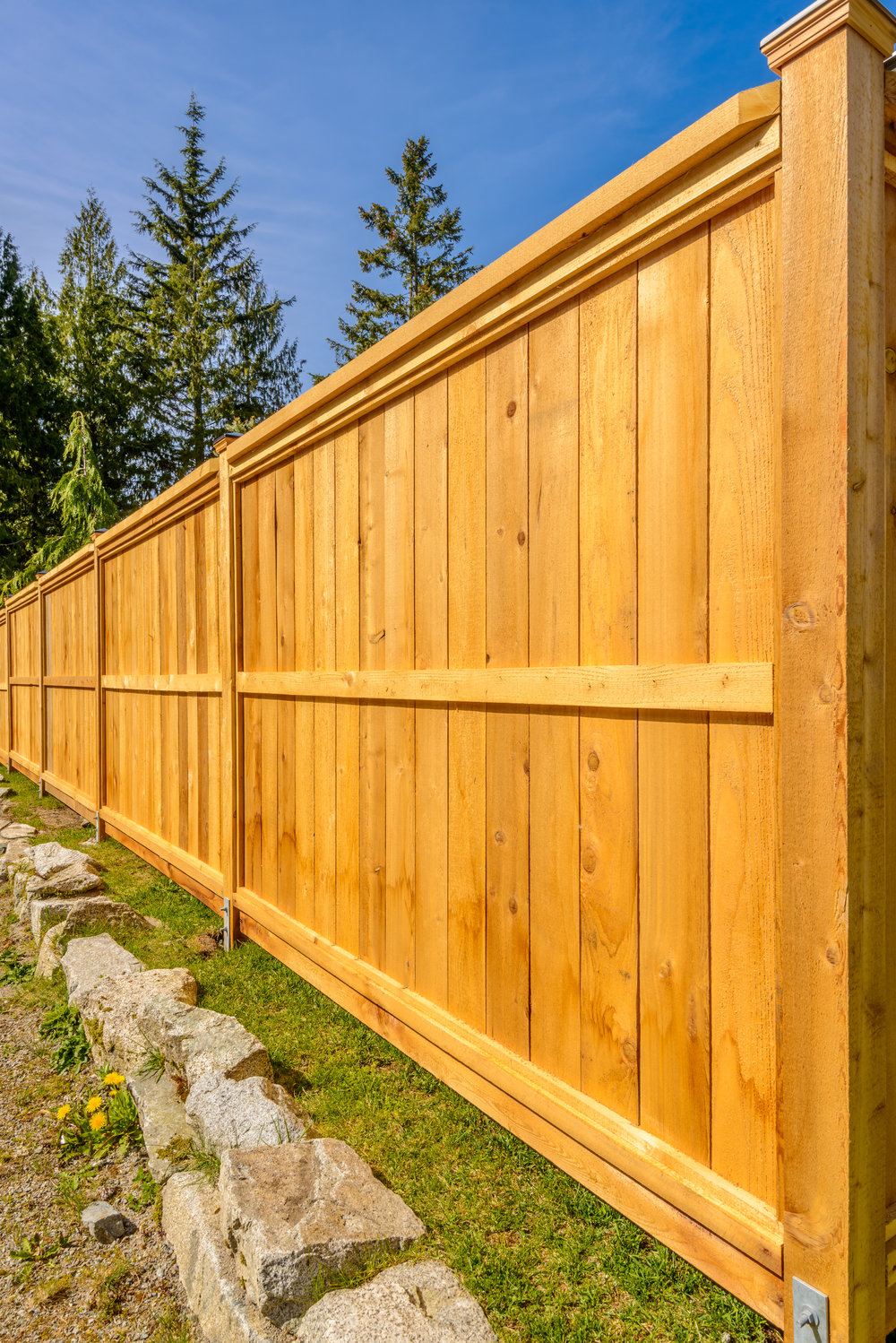 fence privacy wood custom stained
