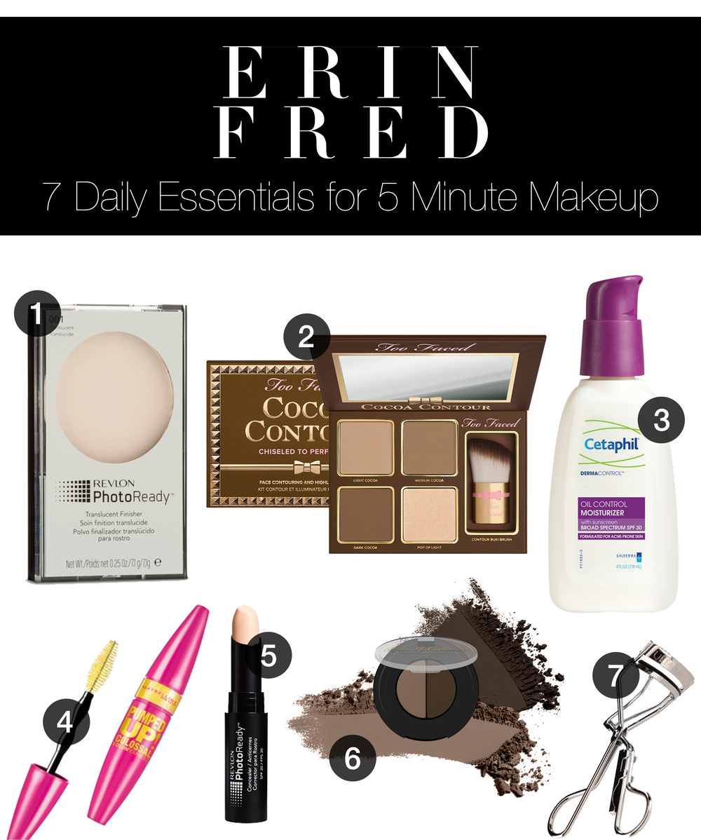 7 Daily Essentials for 5 Minute Makeup