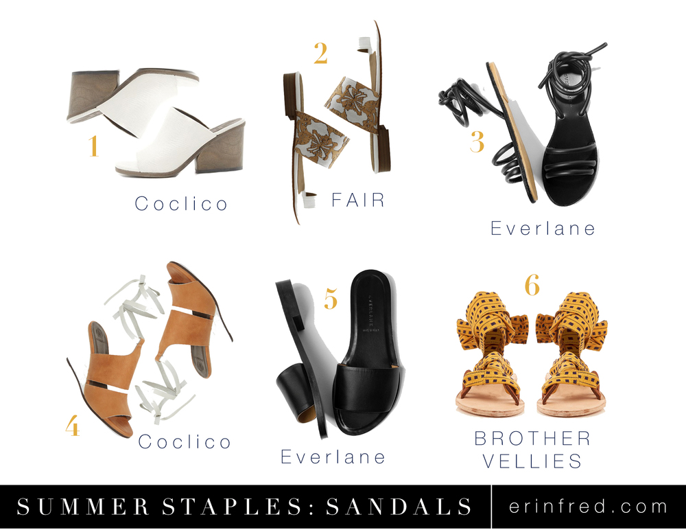 Summer Staples- Shoes | erinfred.com