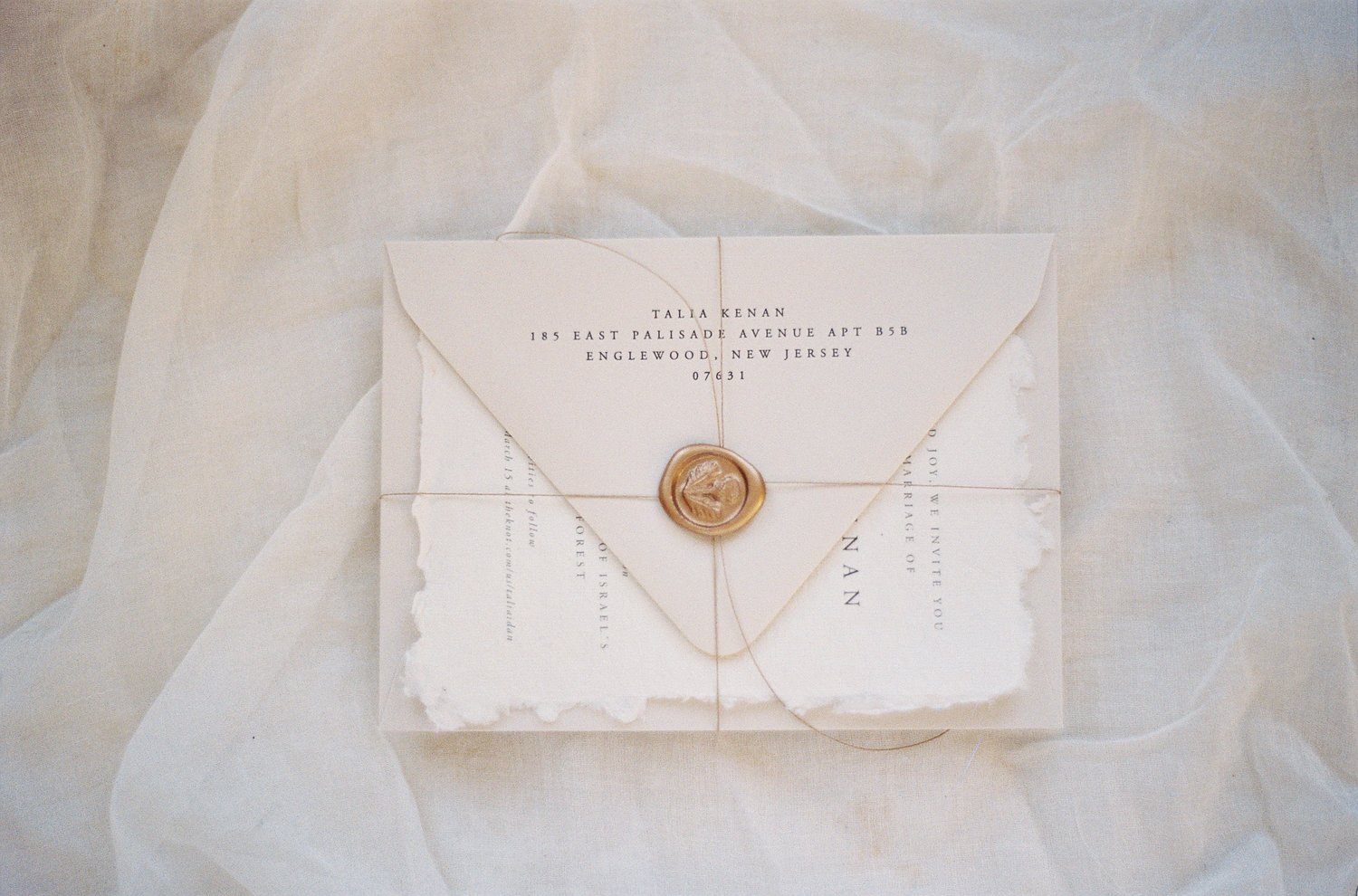 Ribbon or Twine & Wax Seal Wrap — Shasta Bell Calligraphy