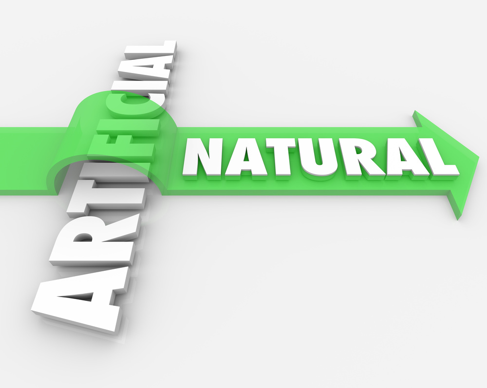 Natural vs Unnatural Real Against Fake Arrow Words