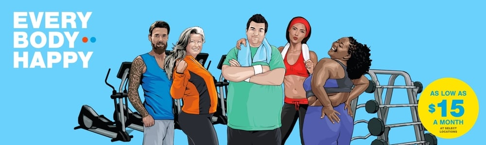 The Blink Fitness new body positive campaign is giving us all of the happys!
