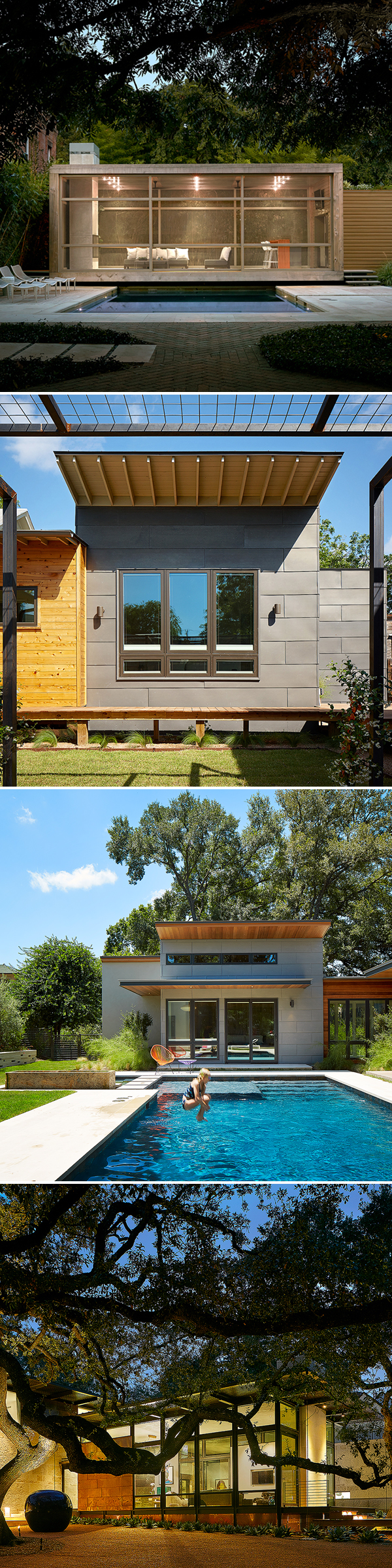 Top: Poteet Architects Second and third: Candid Rogers Architect Bottom: Lake | Flato