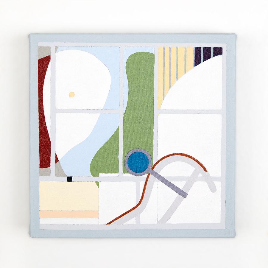 """Villa La Roche   Dror Baldinger  Acrylic on canvas  10"""" x 10"""" x 2.25""""  In Private Collection  © Dror Baldinger"""