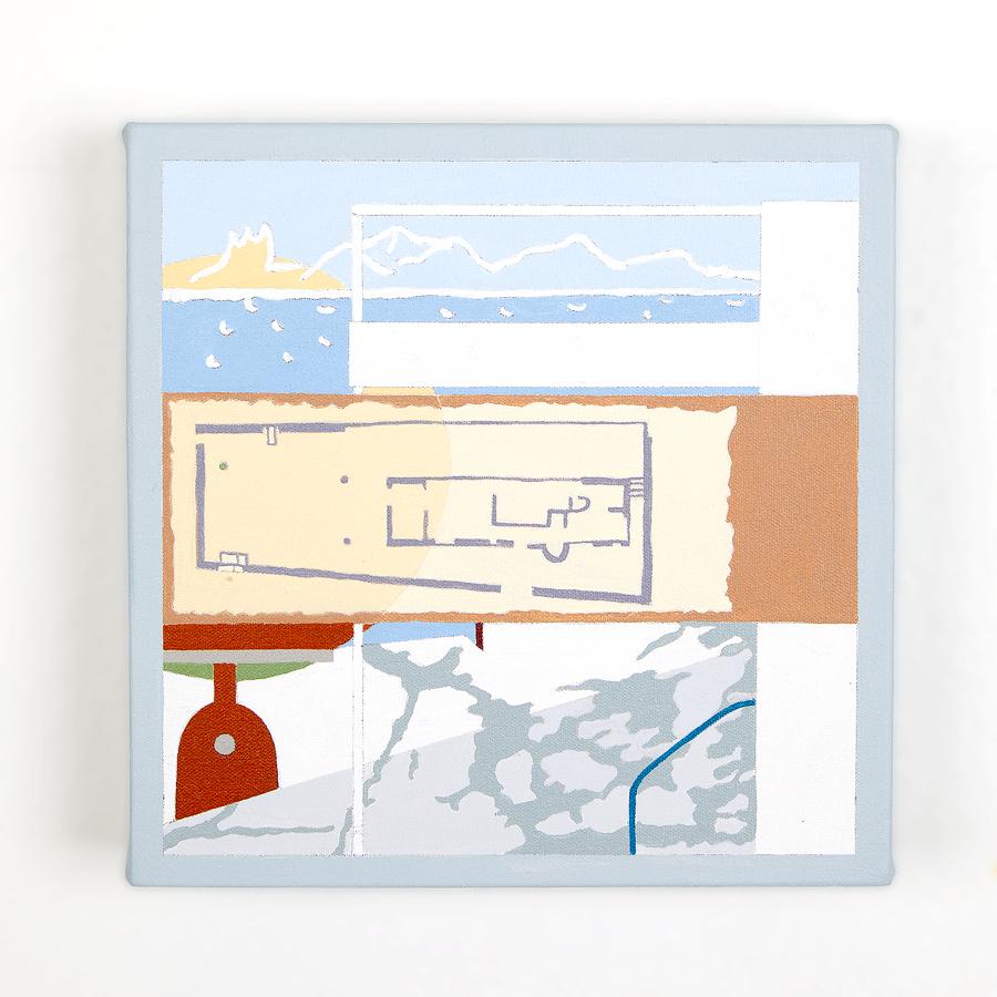 """Petite Maison   Dror Baldinger  Acrylic on canvas  10"""" x 10"""" x 2.25""""  Available  © Dror Baldinger"""