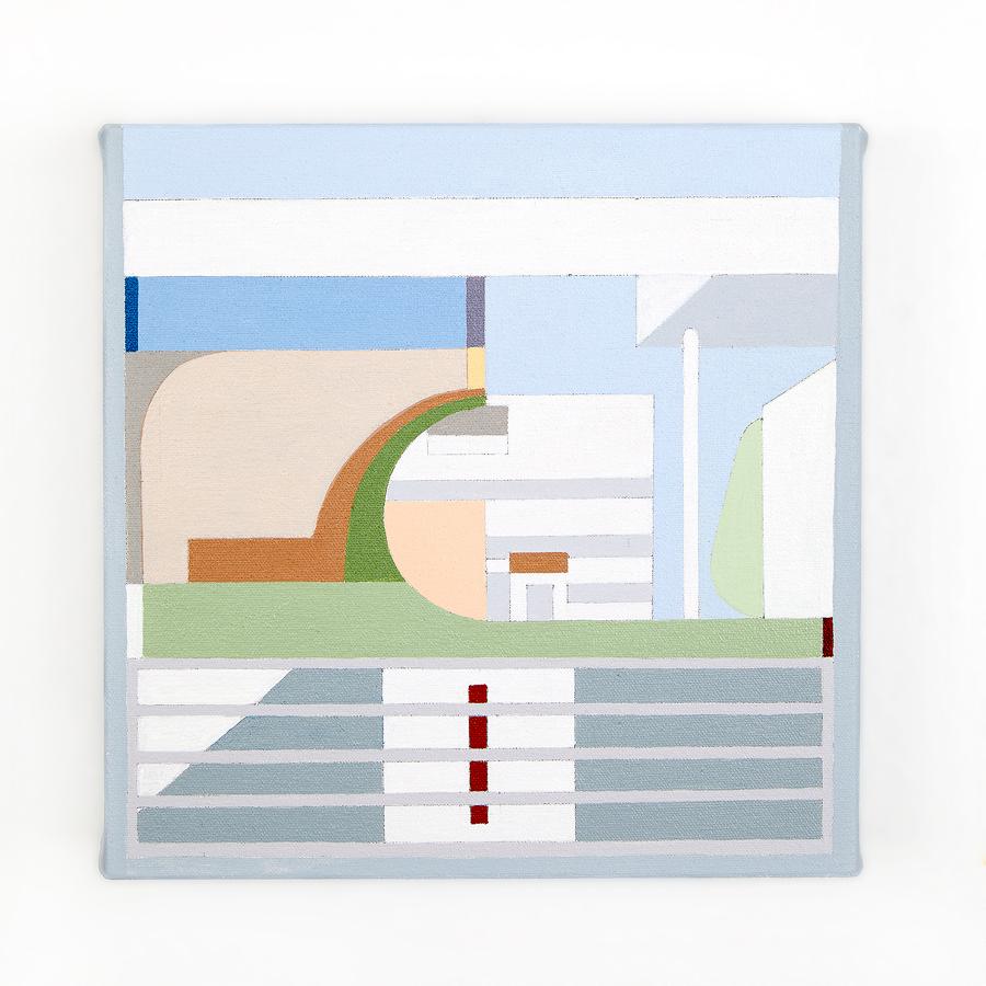 "Villa Stein   Dror Baldinger  Acrylic on canvas  10"" x 10"" x 2.25""  Available  © Dror Baldinger"