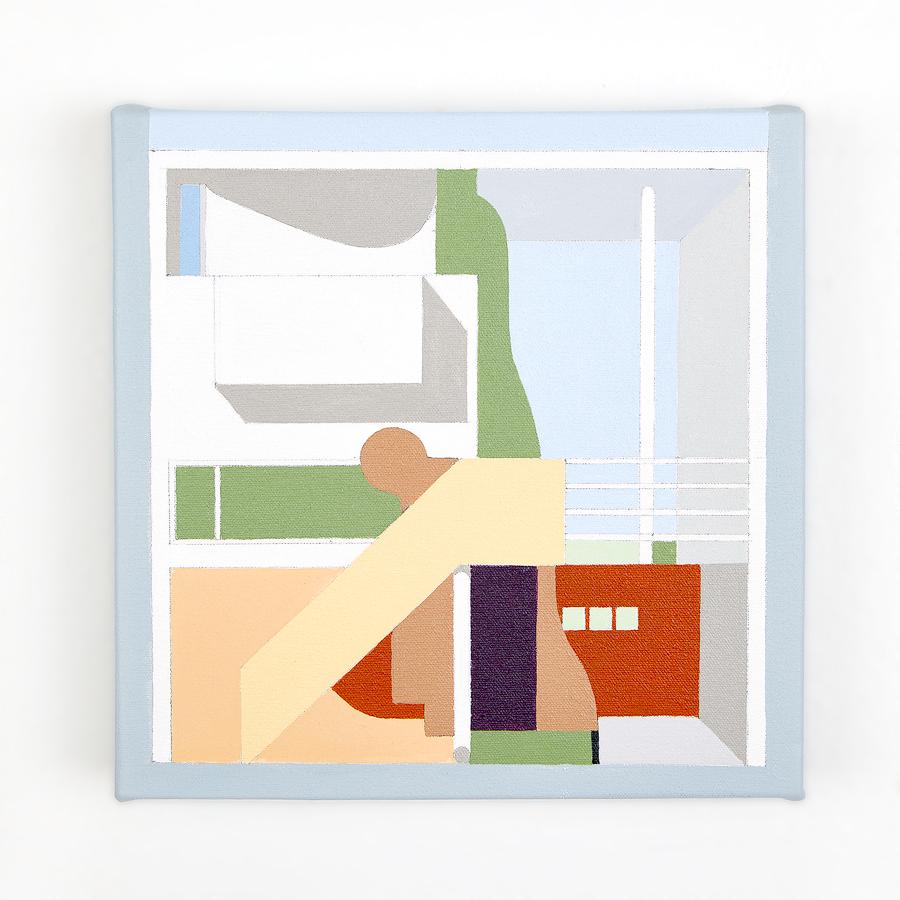 "Villa Cook   Dror Baldinger  Acrylic on canvas  10"" x 10"" x 2.25""  In Private Collection  © Dror Baldinger"