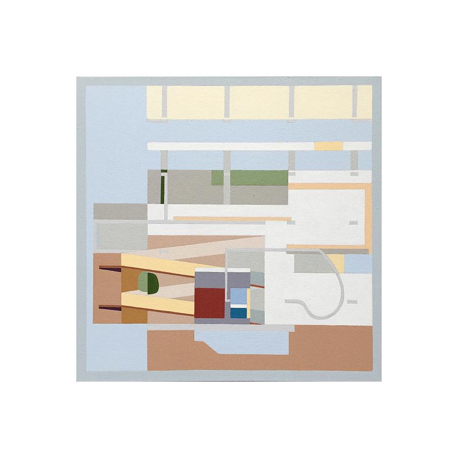 """Villa Shodhan   Dror Baldinger  Acrylic on canvas  18"""" x 18"""" x 2.25""""  Available  © Dror Baldinger"""