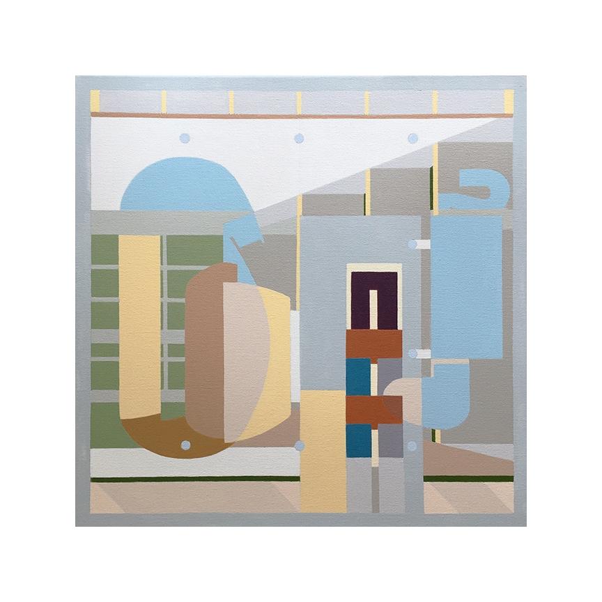"Millowners' Association   Dror Baldinger  Acrylic on canvas  18"" x 18"" x 2.25""  Available"