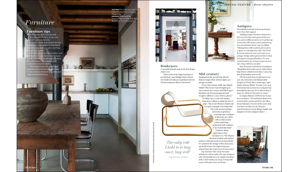Bridget Foley Interior Designer Wellington in NZ House & Garden November 2018 issue