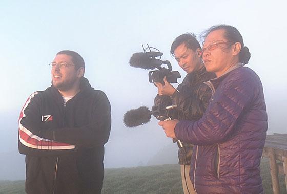 The Mamma Mima TV crew on Mt. Tsurugi.