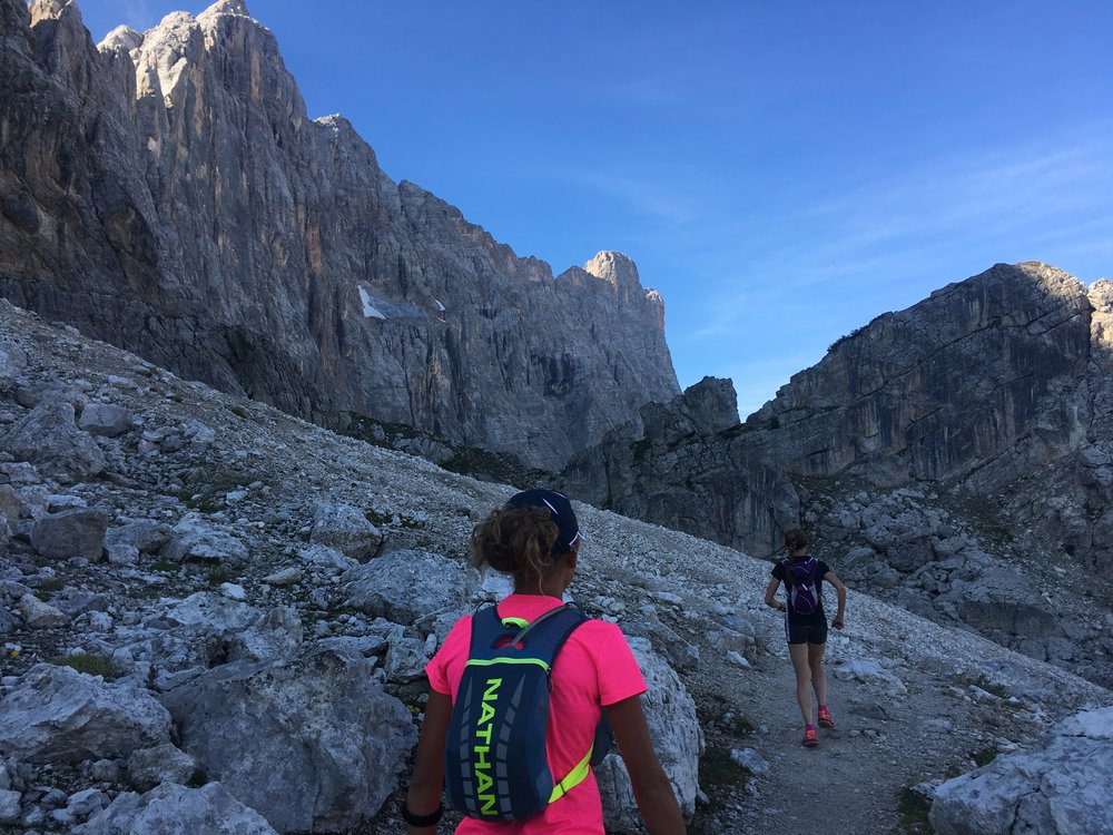 trail running Alta via 1 dolomites running trip runcation