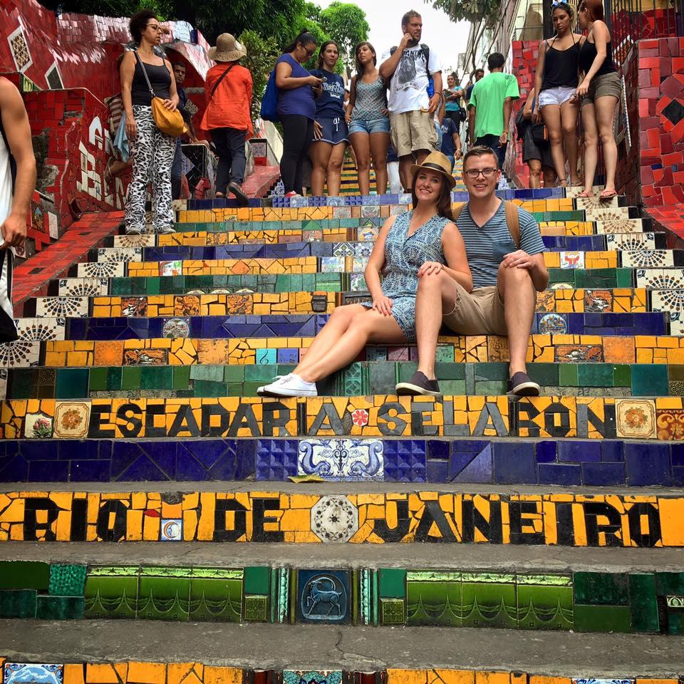 Rio De Janeiro - Escadaria Selarón, also known as the 'Selaron Steps'