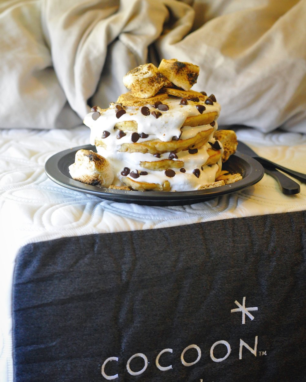 S'mores Pancakes - Cocoon by Sealy - Pancake - Recipe