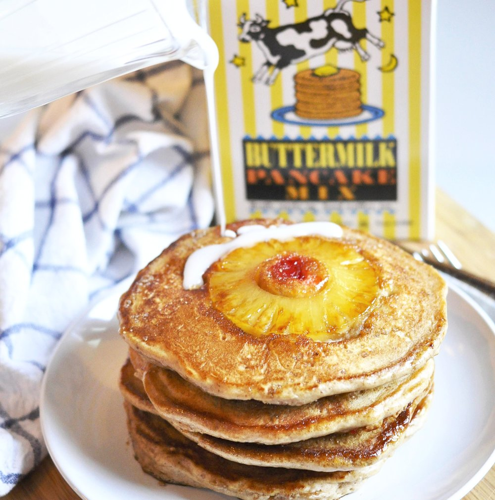Pineapple Upside Down Pancakes | coupleinthekitchen.com