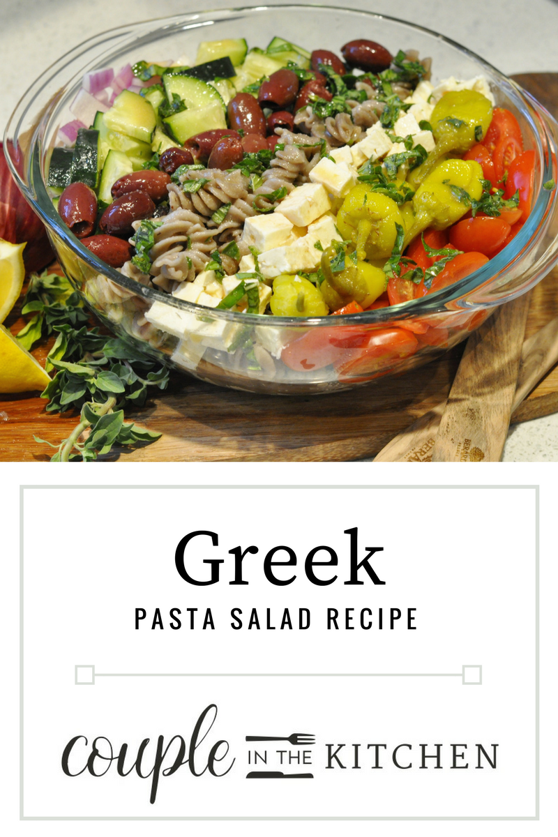 Easy Greek Pasta Salad | coupleinthekitchen.com