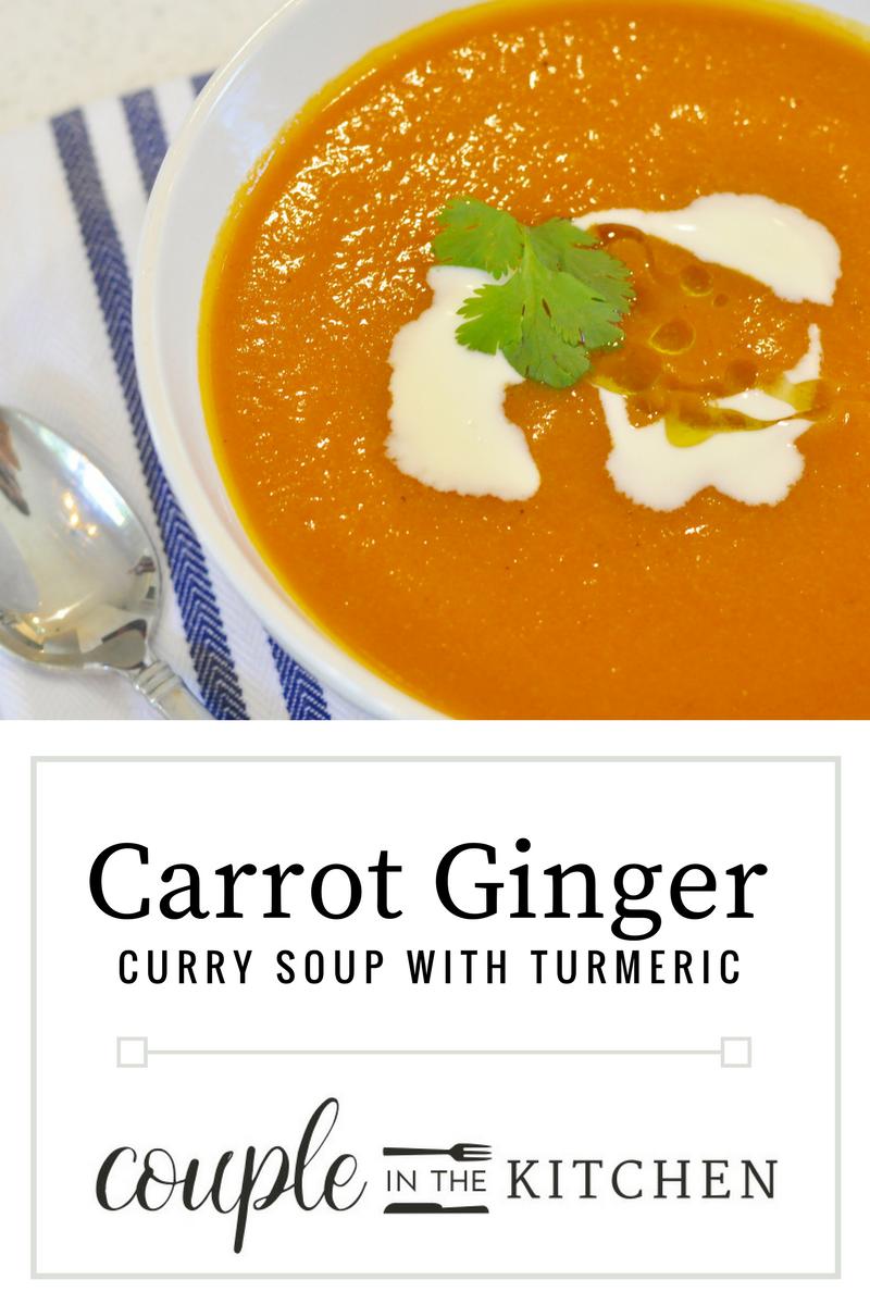 Carrot Ginger Curry Soup | coupleinthekitchen.com