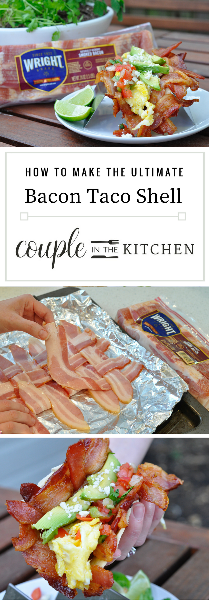 Bacon Taco Shells - The Ultimate Breakfast Taco | coupleinthekitchen.com