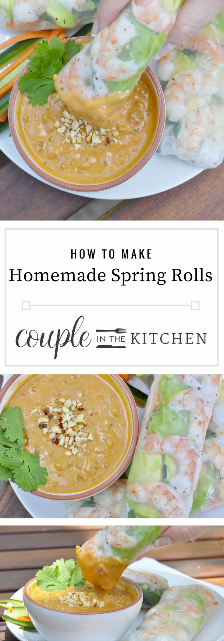 How to Make Spring Rolls | coupleinthekitchen.com
