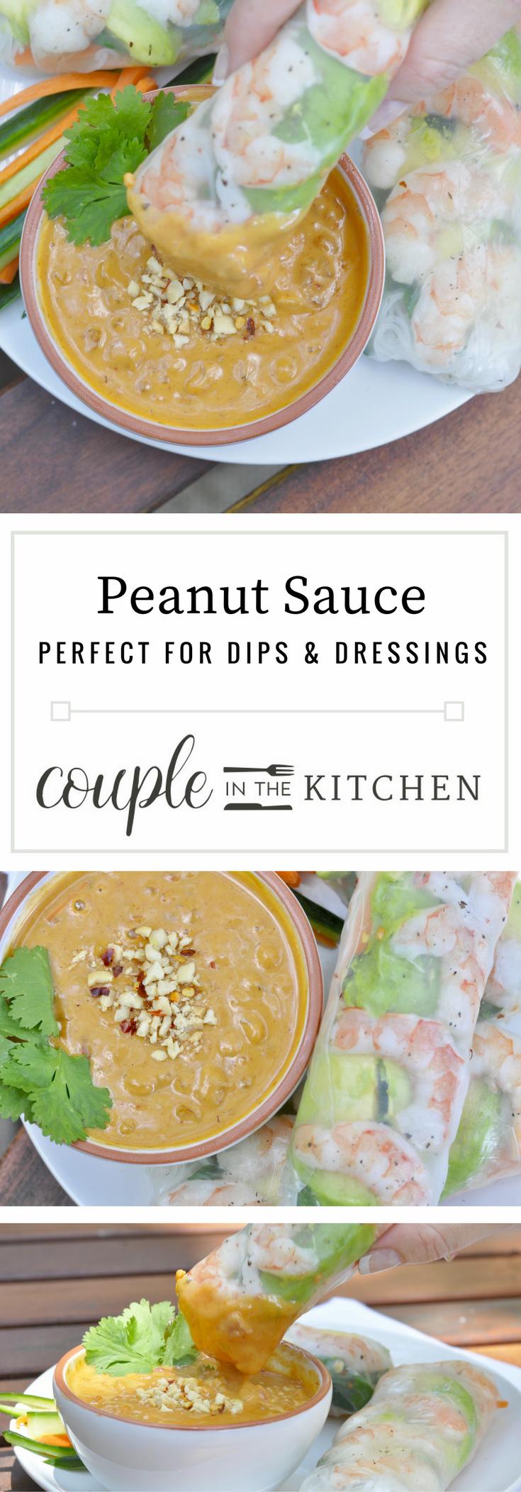 Peanut Sauce Recipe | coupleinthekitchen.com