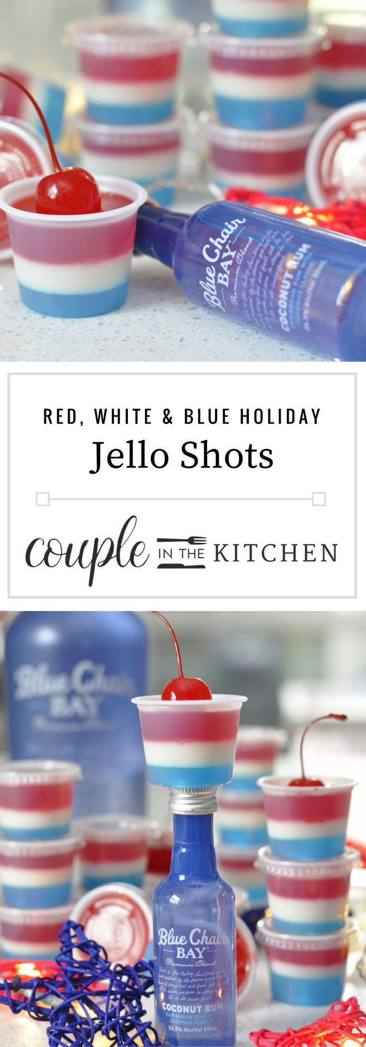Red White and Blue Jello Shots | coupleinthekitchen.com