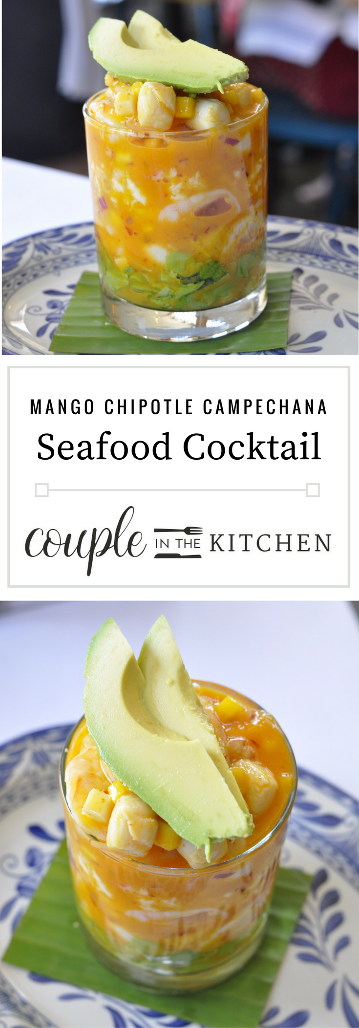 Seafood Appetizer - Mango Chipotle Seafood Cocktail | coupleinthekitchen.com