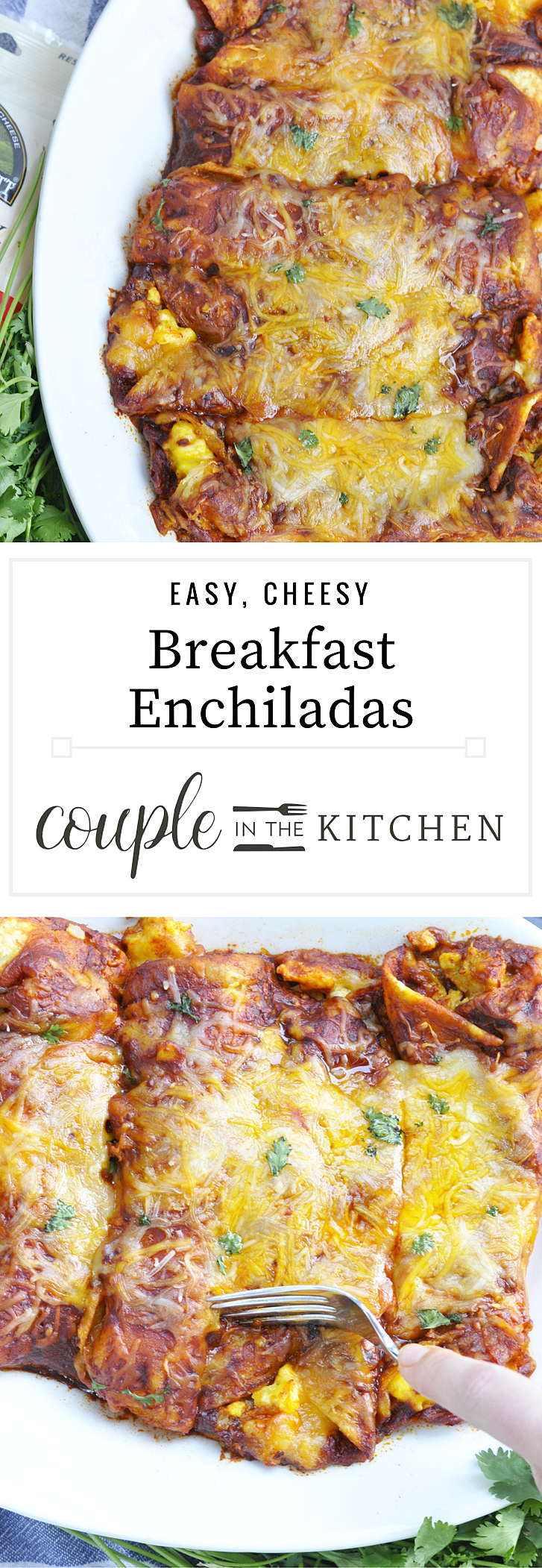Easy Breakfast Enchiladas | coupleinthekitchen.com