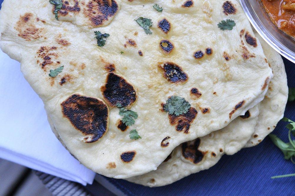 Naan Bread Recipe | Indian Food | coupleinthekitchen.com