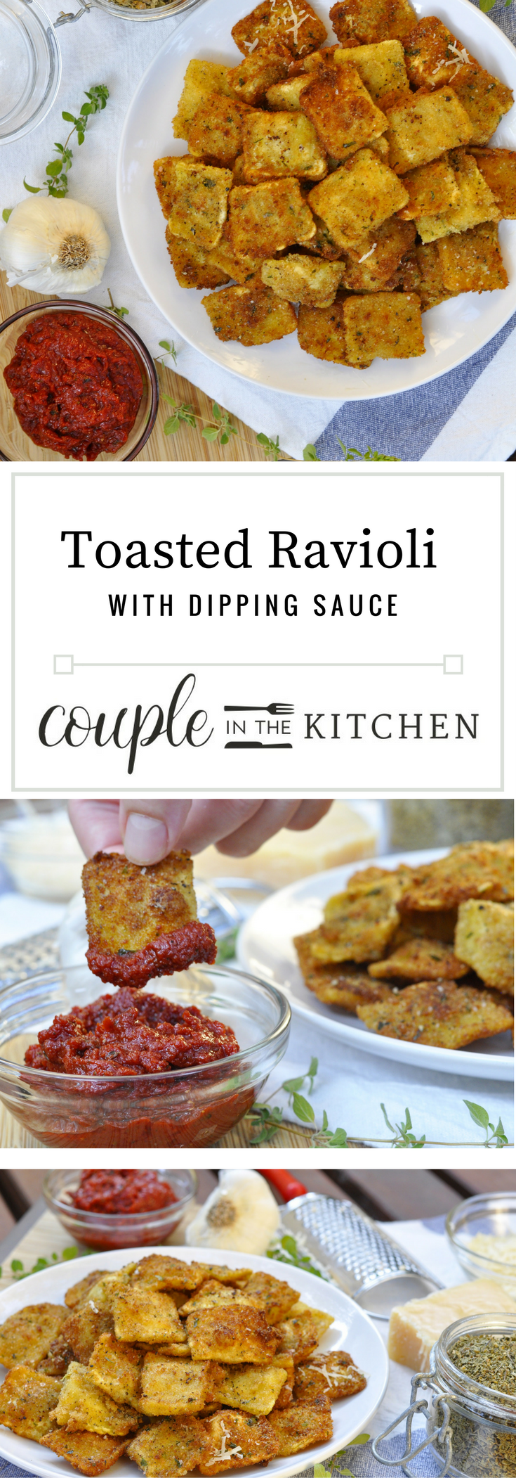 Toasted Ravioli Recipe | coupleinthekitchen.com