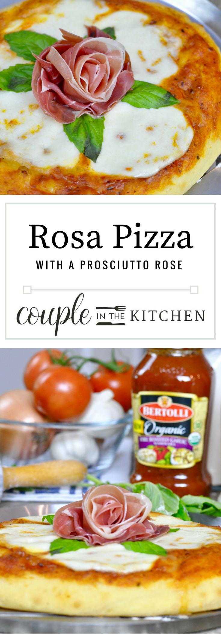 Homemade Pizza with a Prosciutto Rose | coupleinthekitchen.com